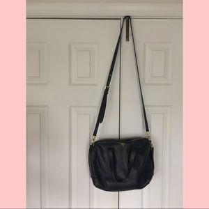 ✨ Fossil teal leather crossbody satchel bag